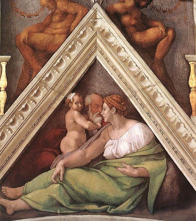 Семейна сцена, изобразяваща господстващото положение на жената
