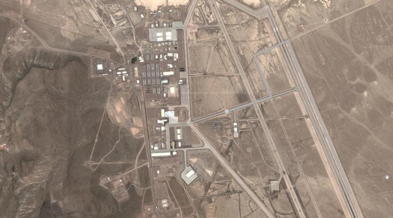Сателитно изображение на Зона 51