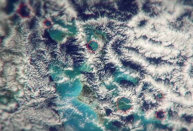 Сателитно изображение на Бермудския триъгълник