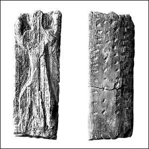 Плочица от слонова кост, намерена в пещера в долината Ач в Германия
