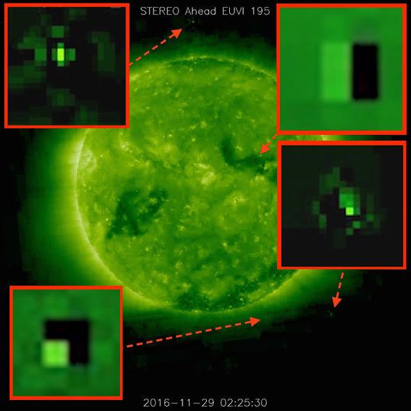 Изображение на НАСА, изпратено от космическия апарат за наблюдение на Слънцето SOHO