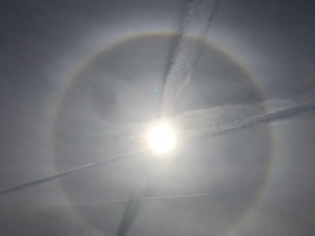 Снимка на Слънцето от района на Луковит от 21.09.18/13:57 часа